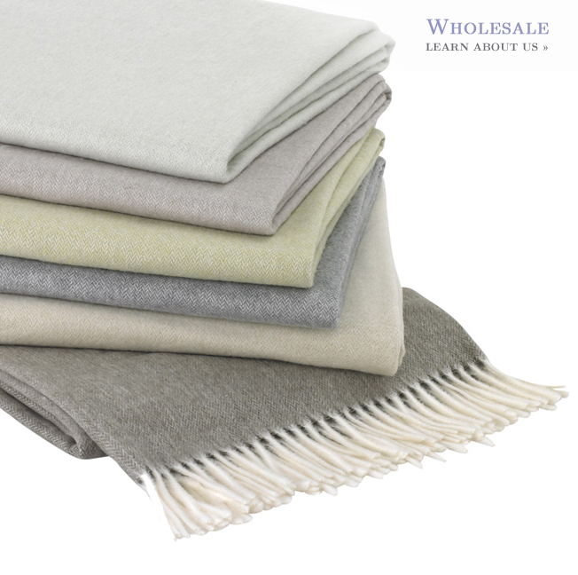 Image Solid color cotton/acrylic all-season throw blanket