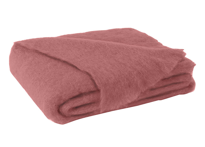 Tearose Brushed Mohair Throw New Zealand Mohair Throws