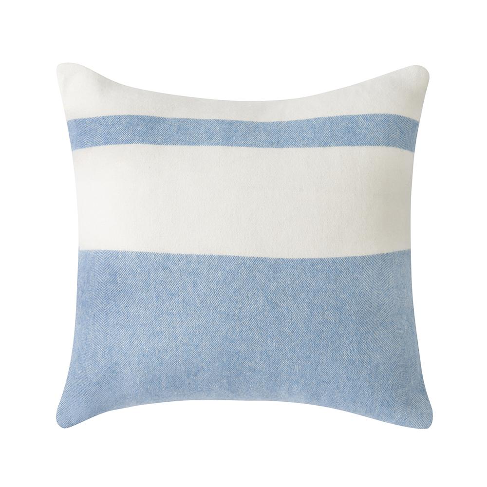 Denim Sydney Herringbone Stripe Pillow Pillows