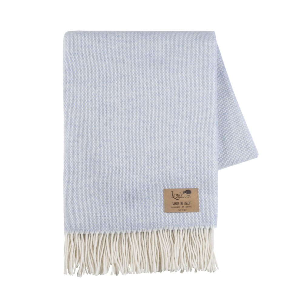 Light Blue Juno Cashmere Throw Italian Juno Cashmere Throws