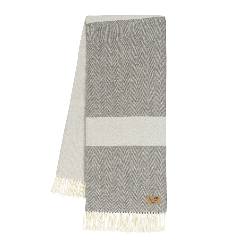 Color Block Light Gray Charcoal Color Block Throws