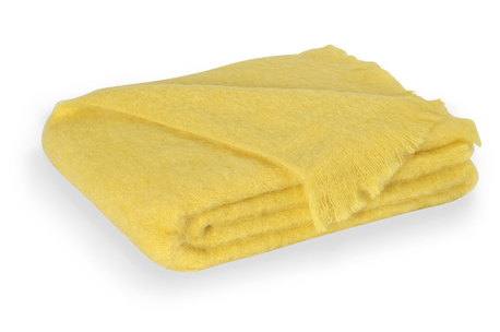 Lemon Brushed Mohair Throw | New Zealand Mohair Throws