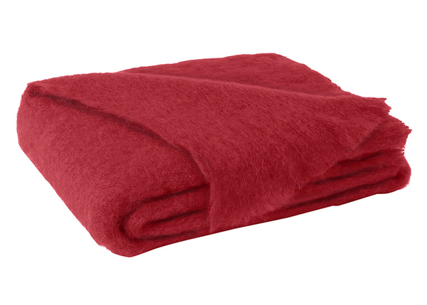 Scarlet Brushed Mohair Throw | New Zealand Mohair Throws