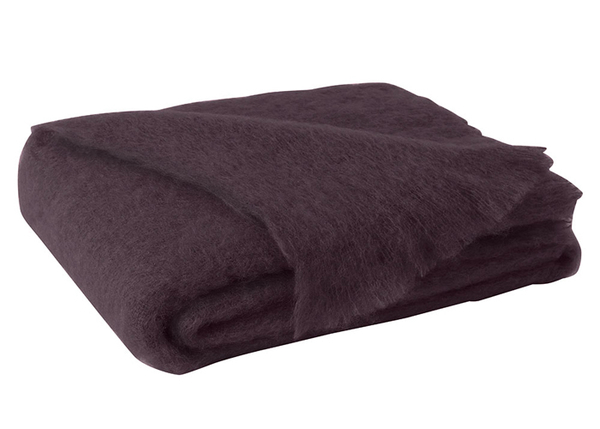Mulberry Brushed Mohair Throw | New Zealand Mohair
