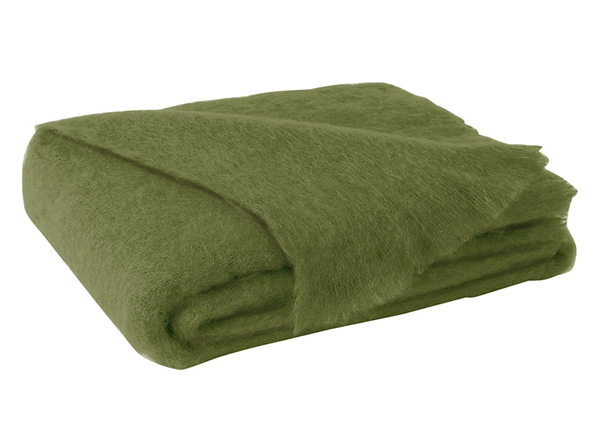 Fern Brushed Mohair Throw   New Zealand Mohair Throws