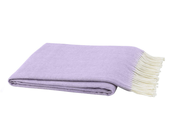 Lilac Italian Herringbone Throw | Italian Herringbone Throws