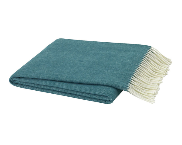 Teal Italian Herringbone Throw | Italian Herringbone Throws