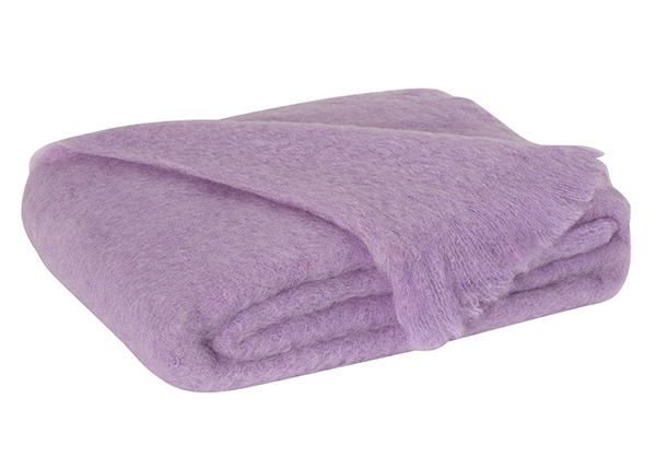 Lilac Brushed Mohair Throw | New Zealand Mohair