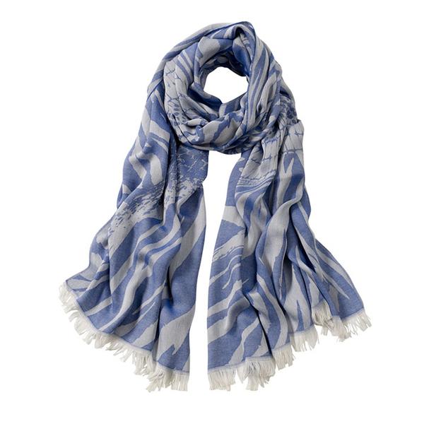 AVvOLTO Blue Zebra Patchwork Scarf | Scarves