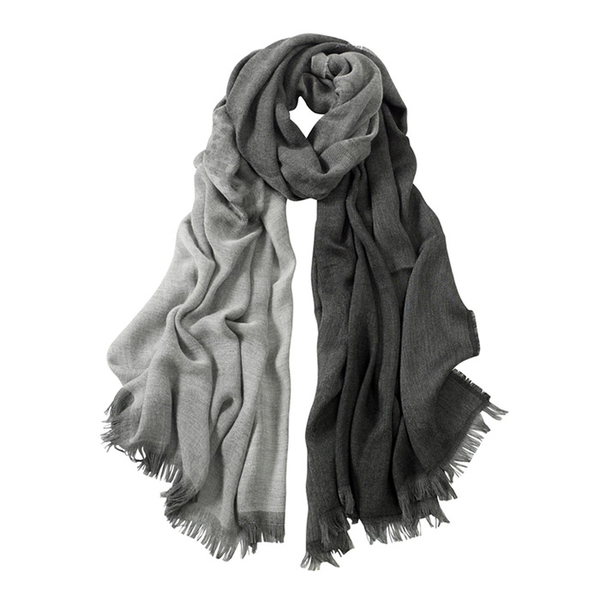 AVvOLTO Gray Shadow Leopard  Ombre Scarf | Scarves