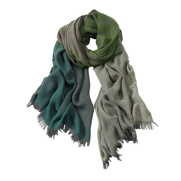 AVvOLTO Green Shadow Leopard  Ombre Scarf | Scarves