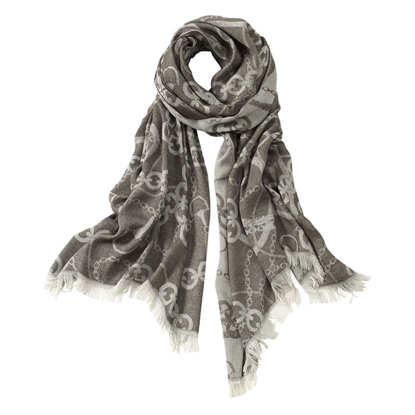 AVvOLTO Brown Equestrian Chain Scarf   Scarves