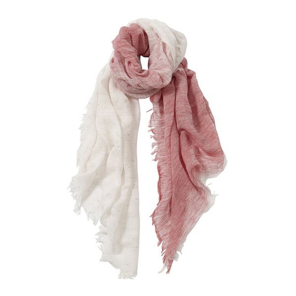 AVvOLTO Red to White Ombre Italian Scarf | Scarves