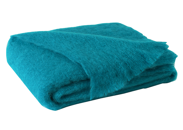 Turquoise Brushed Mohair Throw | New Zealand Mohair Throws