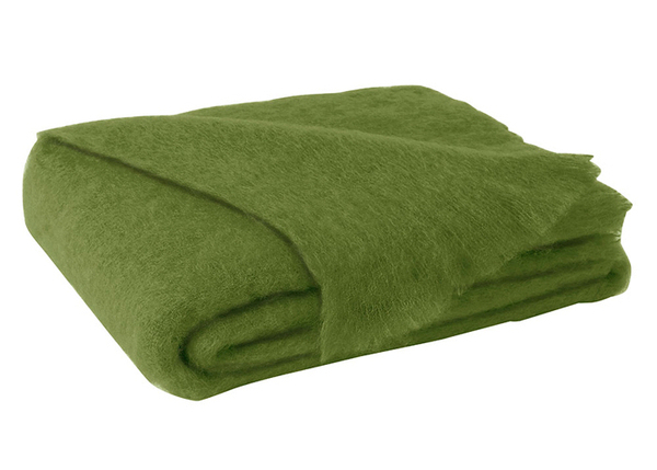 Lime Brushed Mohair Throw | New Zealand Mohair