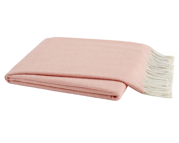 Blush Italian Herringbone Throw Italian Herringbone Throws