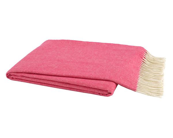 Cosmo Pink Italian Herringbone Throw   Italian Herringbone Throws