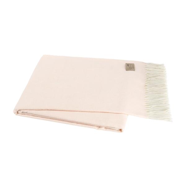 Pink Salt Italian Herringbone Throw | Herringbone