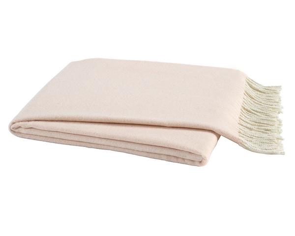 Pink Salt Italian Herringbone Throw | Italian Herringbone Throws
