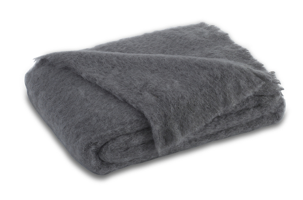 Slate Brushed Mohair Throw | New Zealand Mohair Throws