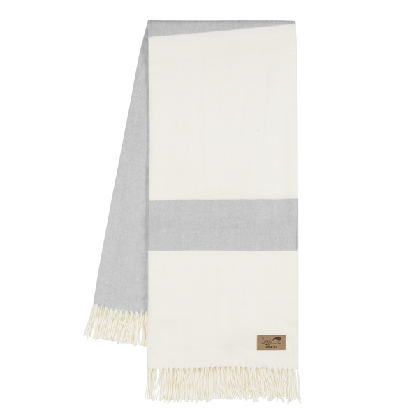 Light Gray Sydney Herringbone Stripe Throw | Sydney Herringbone Stripe