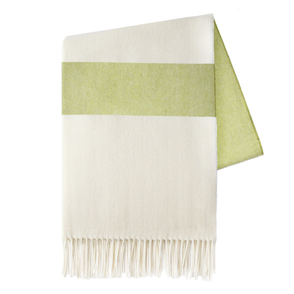 Lemongrass Sydney Herringbone Stripe Throw | Sydney Herringbone Stripe Throws