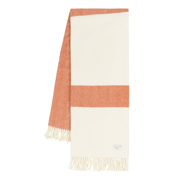 Mandarin Sydney Herringbone Stripe Throw | Sydney Herringbone Stripe Italian Throws