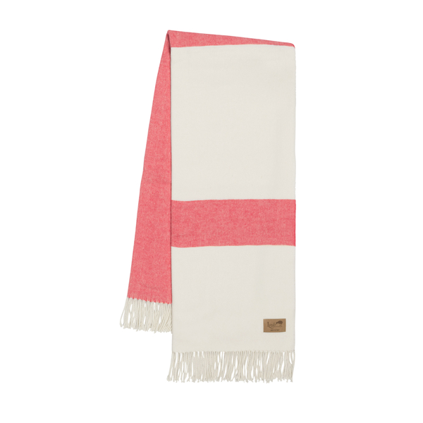 Coral Sydney Herringbone Stripe Throw | Sydney Herringbone Stripe