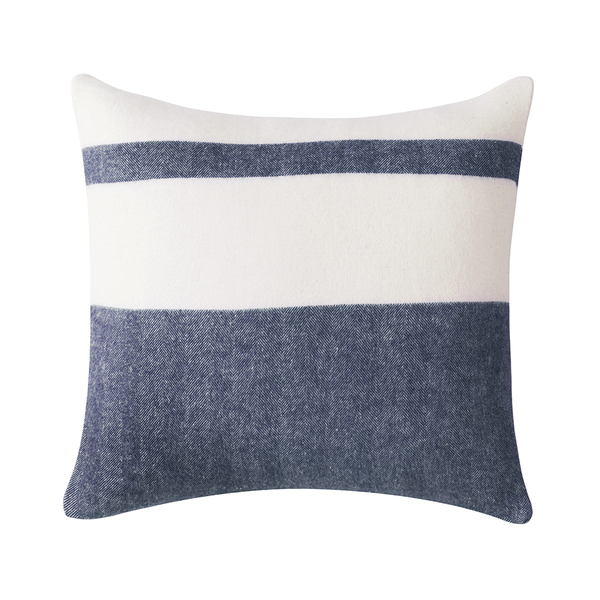 Navy Sydney Herringbone Stripe Pillow | Pillows