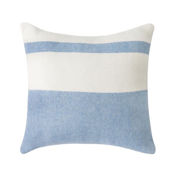 Denim Sydney Herringbone Stripe Pillow | Pillows