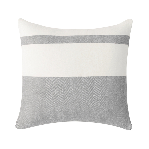 Light Gray Sydney Herringbone Stripe Pillow | Pillows