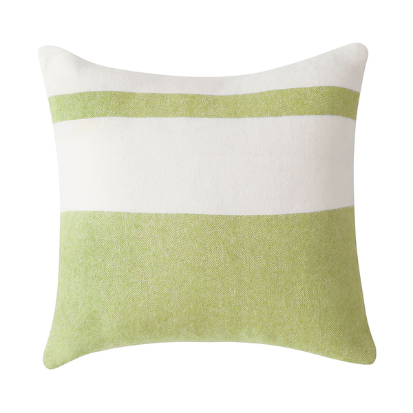 Lemongrass Sydney Herringbone Stripe Pillow | Sydney Herringbone Stripe Italian Pillows