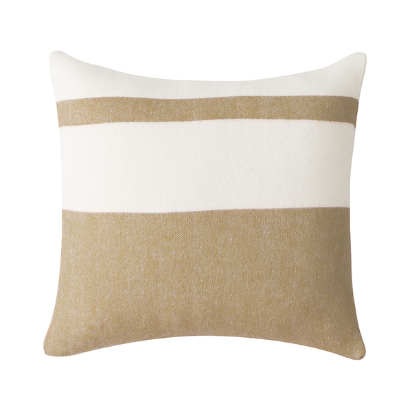 Caramel Sydney Herringbone Stripe Pillow | Sydney Herringbone Stripe Italian Pillows