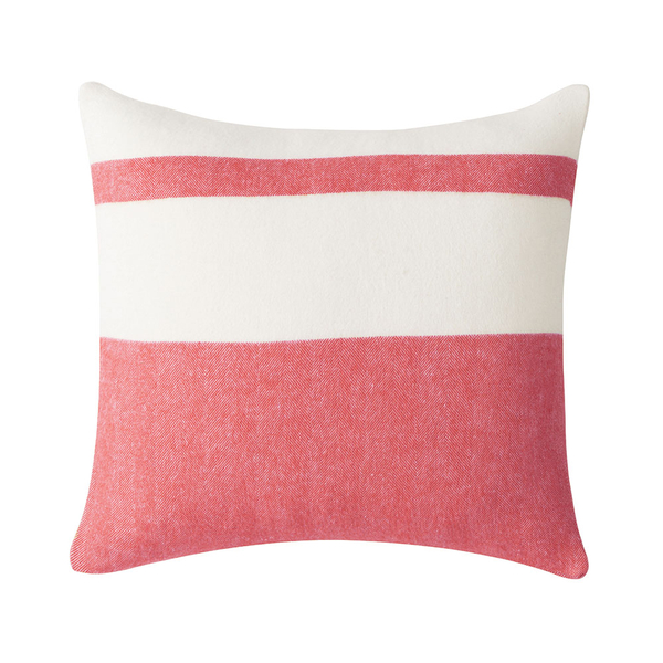 Coral Sydney Herringbone Stripe Pillow | Pillows