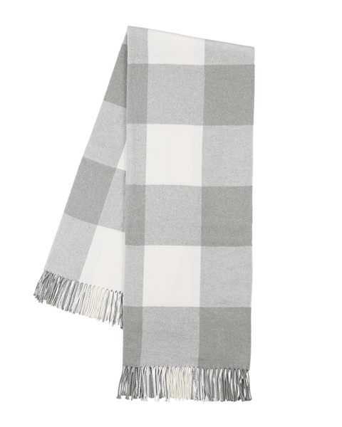 Light Gray Buffalo Check Throw | Buffalo Check Italian Throws