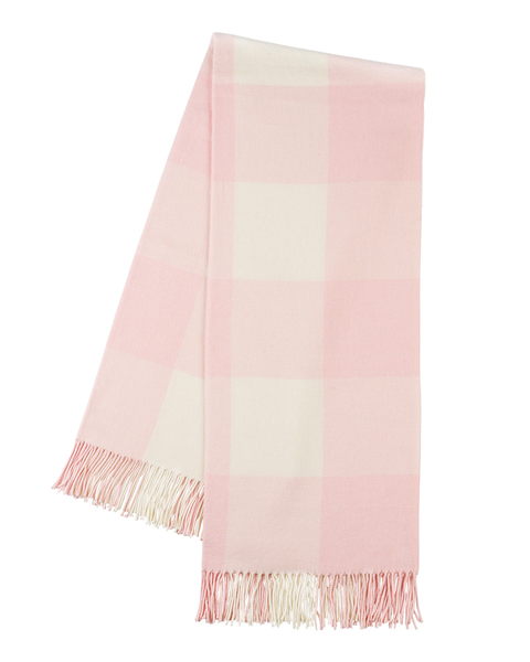 Rosé Buffalo Check Throw | Buffalo Check Italian Throws