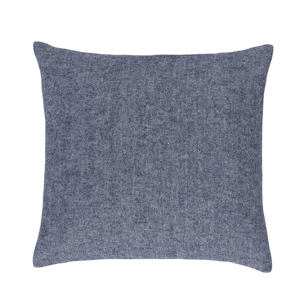 Navy Solid Herringbone Pillow | Solid Herringbone Italian Pillows