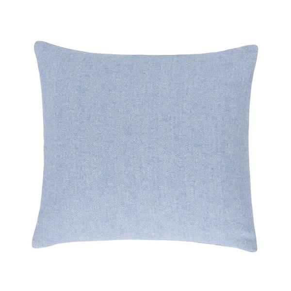 Denim Solid Herringbone Pillow | Solid Herringbone Italian Pillows