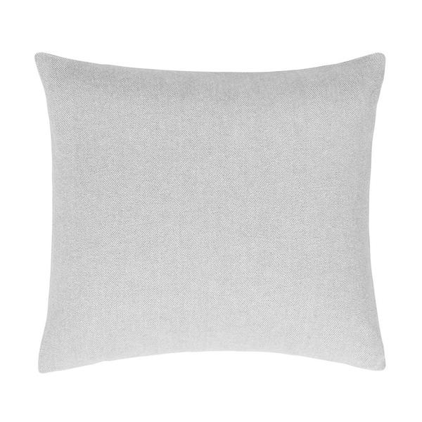Light Gray Herringbone Pillow | Solid Herringbone Italian Pillows