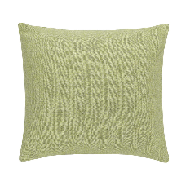 Lemongrass Herringbone Pillow | Solid Herringbone Italian Pillows
