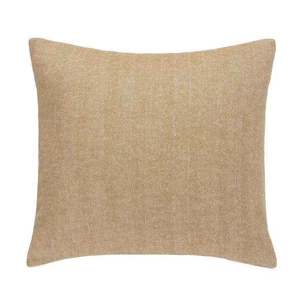 Caramel Herringbone Pillow | Solid Herringbone Italian Pillows