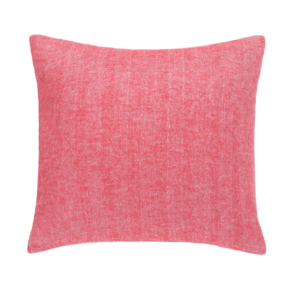 Coral Herringbone Pillow | Solid Herringbone Italian Pillows