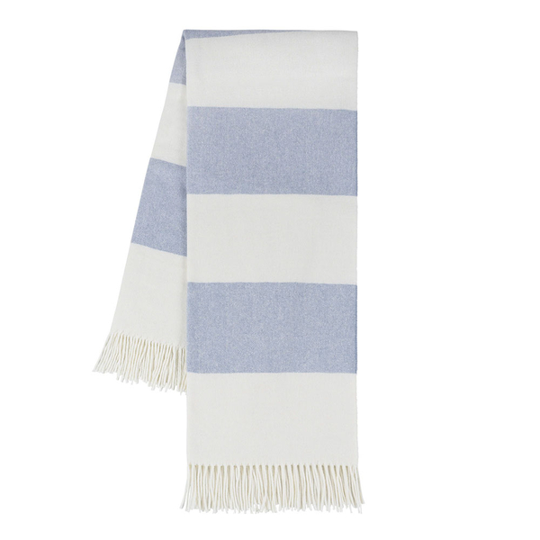 Denim Rugby Stripe Throw | Rugby Stripe Italian Throws