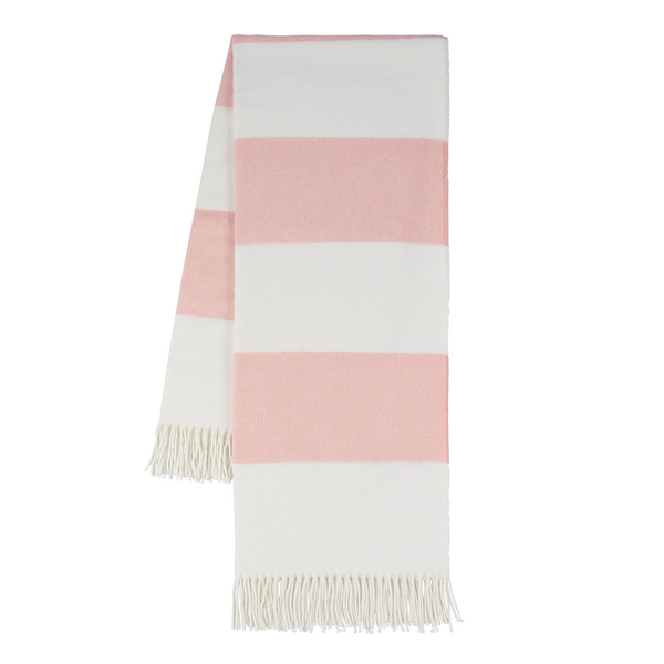 Blush Rugby Stripe Throw | Rugby Stripe Italian Throws