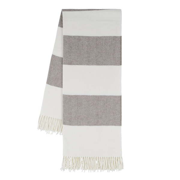 Barnwood Rugby Stripe Throw | Rugby Stripe