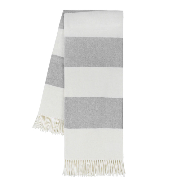 Light Gray Rugby Stripe | Rugby Stripe Italian Throws