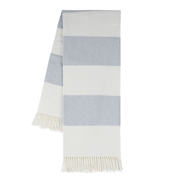 Hydrangea Rugby Stripe | Rugby Stripe Italian Throws