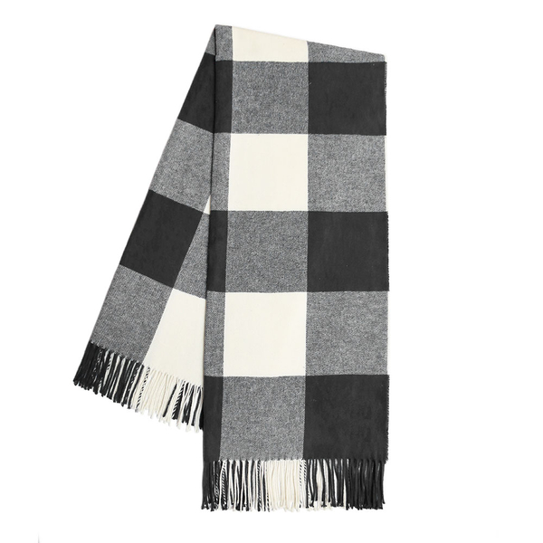 Graphite Buffalo Check Throw | Buffalo Check