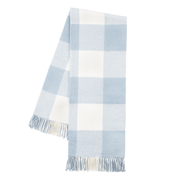 Baby Blue Buffalo Check Throw | Buffalo Check Italian Throws