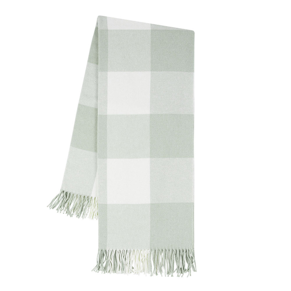 Seaglass Buffalo Check Throw | Buffalo Check Italian Throws